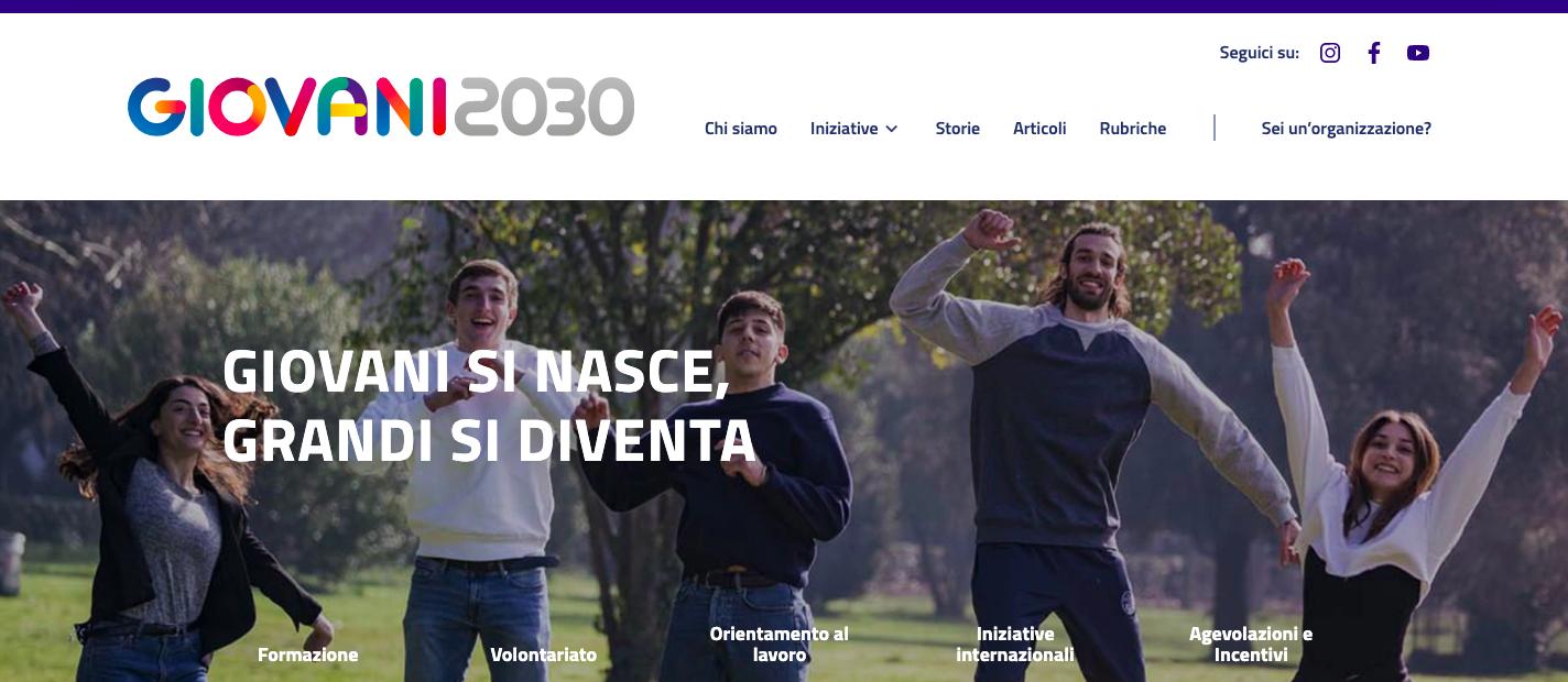 Immagine raffigurante notizia - Online Giovani2030, la piattaforma governativa che parla con i giovani.